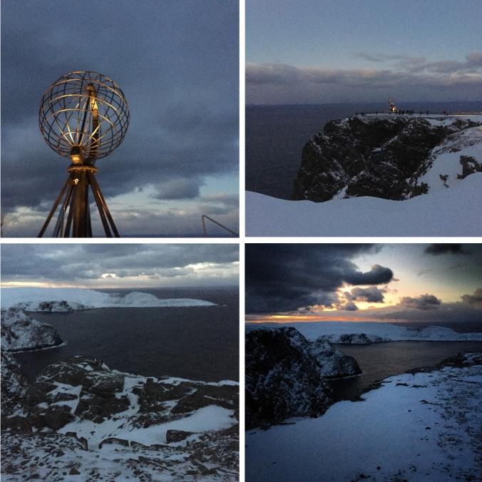 Das Nordkapp in der Polarnacht mittags um ein Uhr, Copyright: insidenorway