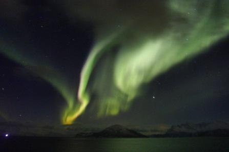Nordlichter hinter Hammerfest, Copyright: insidenorway