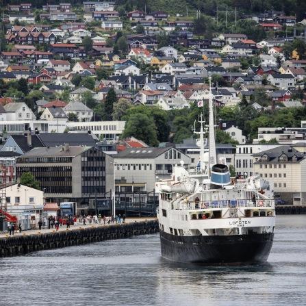 Die MS Lofoten in Molde, Copyright: insidenorway