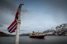 Lyngenfjord, die Polarlys von der Nordsternen aus gesehen, Copyright: Lutz Stickeln